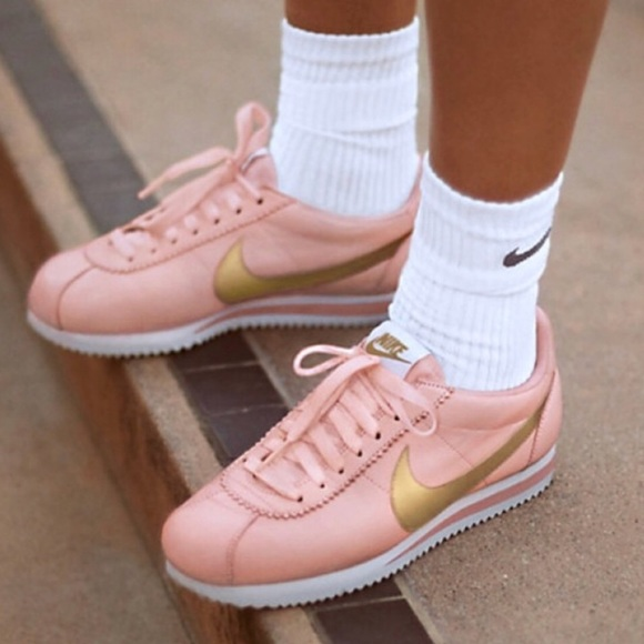 Nwtnike Cortez Leather Pink Gold